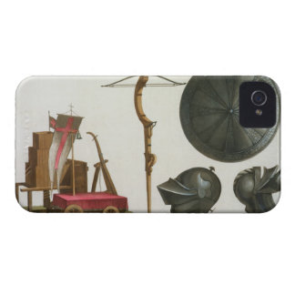 Milanese chariot, crossbow and armour, plate 17 fr iPhone 4 Case-Mate case