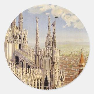 Milano Classic Round Sticker