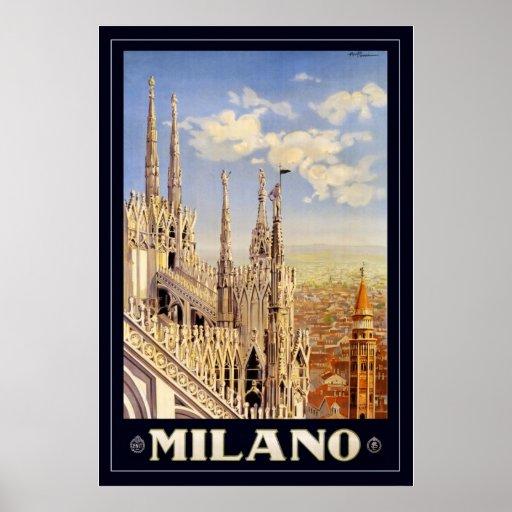 Milano (con la frontera) póster