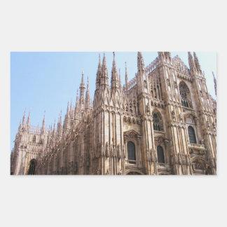 Milano Duomo Cathedral Rectangular Sticker