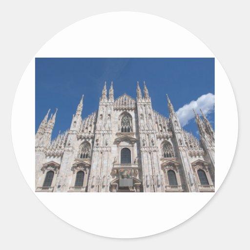 Milano, Duomo Pegatina Redonda