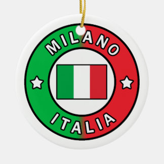 Milano Italia Ceramic Ornament