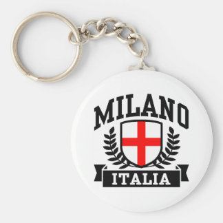 Milano Italia Llavero Redondo Tipo Pin