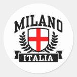Milano Italia Pegatina Redonda