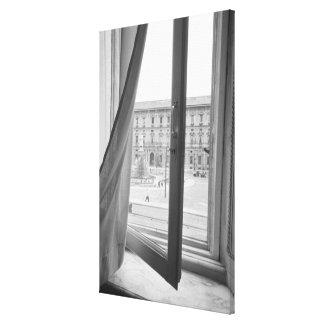 Milano Italia, visión desde la ventana de la ópera Lona Estirada Galerias