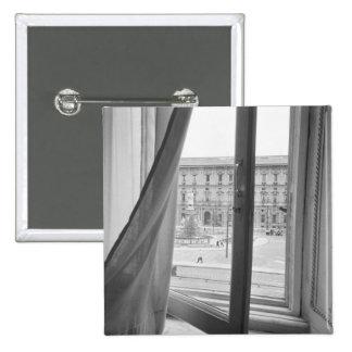 Milano Italia, visión desde la ventana de la ópera Pin Cuadrada 5 Cm