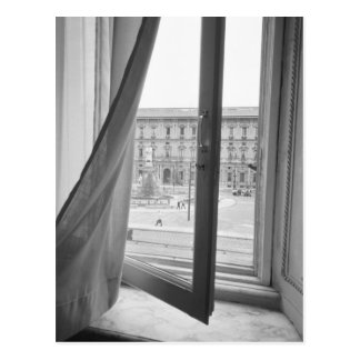 Milano Italia, visión desde la ventana de la ópera Tarjeta Postal