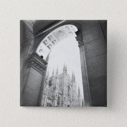 Milano Italy, Galleria View of the Duomo Button