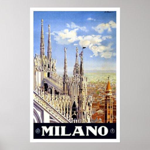 Milano Italy  Travel Poster