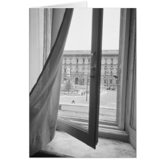Milano Italy, View from La Scala Opera Window Card
