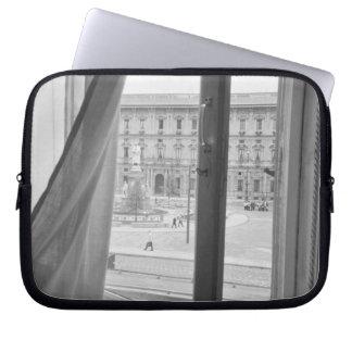Milano Italy, View from La Scala Opera Window Laptop Computer Sleeve