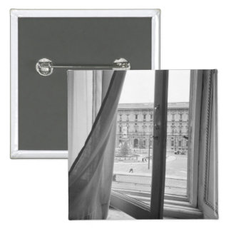 Milano Italy, View from La Scala Opera Window Pinback Button