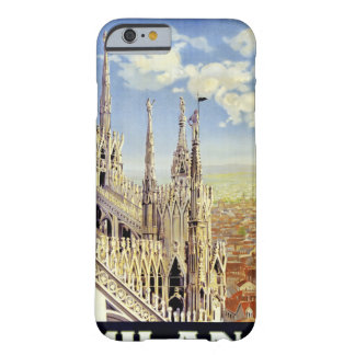 Milano Italy Vintage Travel Poster Restored Barely There iPhone 6 Case