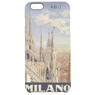 Milano (Milan) Italy vintage travel custom cases Uncommon Clearly™ Deflector iPhone 6 Plus Case