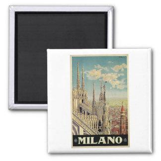 Milano Milan Italy Vintage Travel Magnet