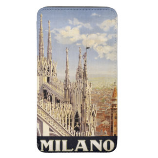 Milano (Milan) Italy vintage travel phone pouches Galaxy S5 Pouch