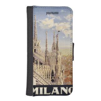 Milano (Milan) Italy vintage travel phone wallets