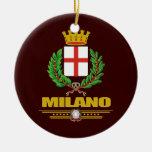 Milano (Milano) Adorno Navideño Redondo De Cerámica