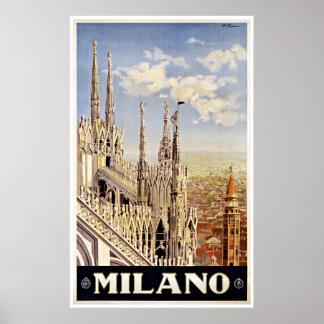 Milano Milano Italia - posters del viaje del vinta