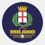Milano (Milano) Pegatina Redonda