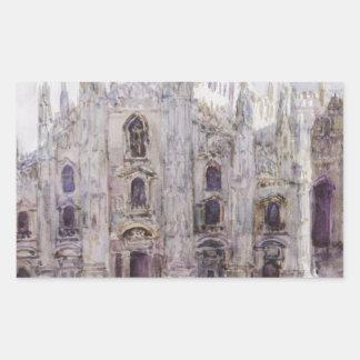 Milan's Cathedral by Vasily Surikov Rectangular Sticker