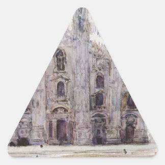 Milan's Cathedral by Vasily Surikov Triangle Sticker