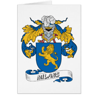 Milans Family Crest Greeting Card