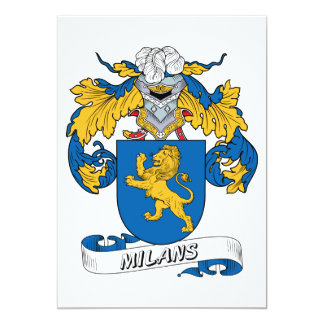 Milans Family Crest 5x7 Paper Invitation Card