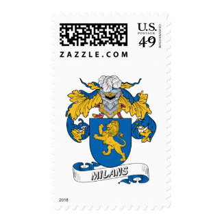 Milans Family Crest Stamp