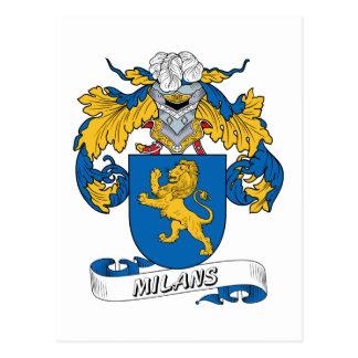 Milans Family Crest Postcard