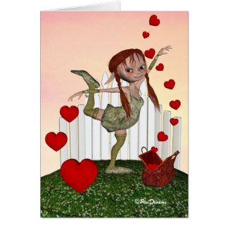 Mila's Magic Bag of Hearts - Valentine Card
