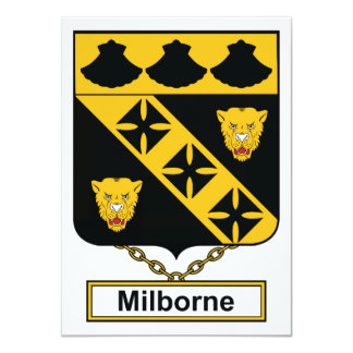 Milborne Family Crest Card