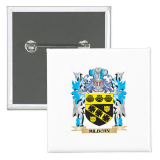 Milburn Coat of Arms - Family Crest Pinback Button