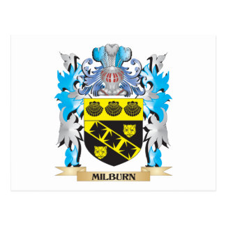 Milburn Coat of Arms - Family Crest Postcards