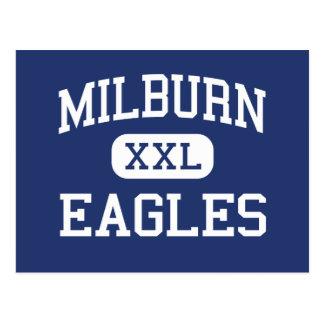 Milburn - Eagles - High School - Milburn Oklahoma Post Cards