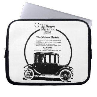 Milburn Electric Automobile vintage ad Laptop Sleeve