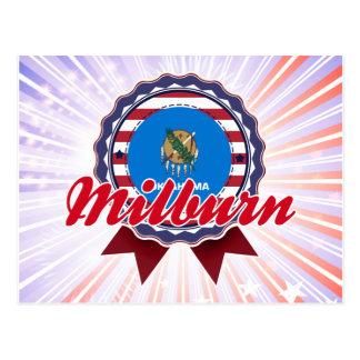 Milburn OK Postcard