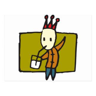 Milchtrinker Postcard