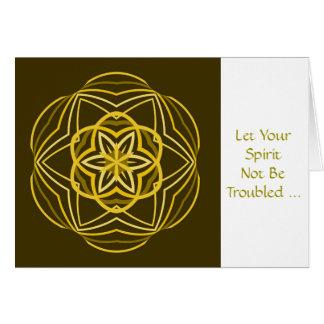 Mild Religious, Troubled Spirit, green Card