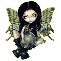 art, fantasy, eye, eyes, mildew, mildew fairy, goth fairy, boots, boot, green, green fairy, gothling, urban fairy, urban, big eye, big eyed, jasmine, becket-griffith, becket, griffith, jasmine becket-griffith, jasmin, strangeling, artist, goth, gothic, fairy, gothic fairy, faery, fairies, faerie, fairie, lowbrow, low brow, big eyes, strangling, fantasy art, original, lowbrow art, Photo Sculpture with custom graphic design