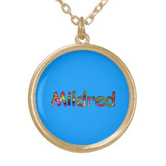 Mildred accessories round pendant necklace