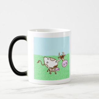 Mildred Cow And Dory Calf 11 Oz Magic Heat Color-Changing Coffee Mug