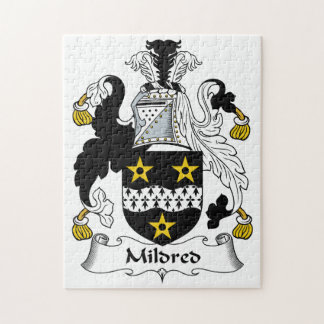 Mildred Family Crest Puzzle