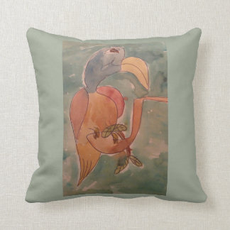 Mildred Listened As The Young Birds Chirped Throw Pillows
