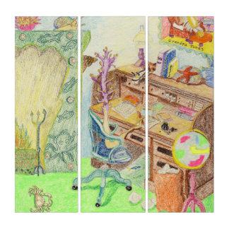 Mildred Sea Pen, The Novelist, Writes Her Memoires Triptych