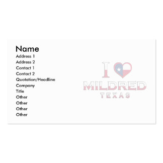 Mildred, Texas Business Card