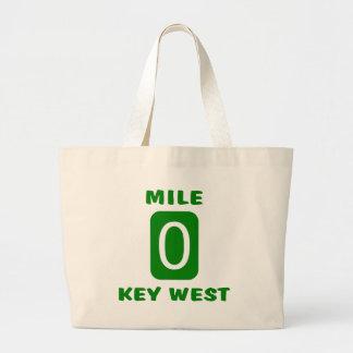 Mile 0 Key West Jumbo Tote Bag