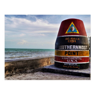 Mile 0 Key West Postcard