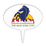 Mile High City Blue Horse Cake Topper