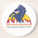 Mile High City Blue Horse Drink Coasters